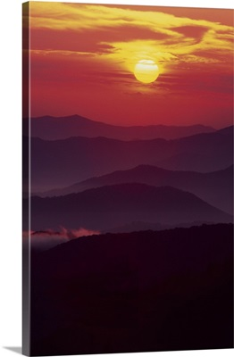 North Carolina and Tennessee, Great Smoky Mountains National Park, Sunset