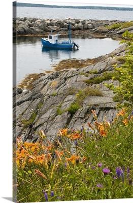 Nova Scotia, Canada. Scene around Blue Rocks in Lunenburg Harbour