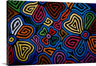 Panama City, Handicraft Market, colorful hand stitched mola