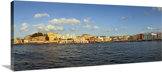 Panoramic View Of Chania, Crete, Greece Wall Art, Canvas Prints ...