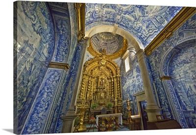 Portugal, Almancil, Interior of St. Lawrence Church, Portugal