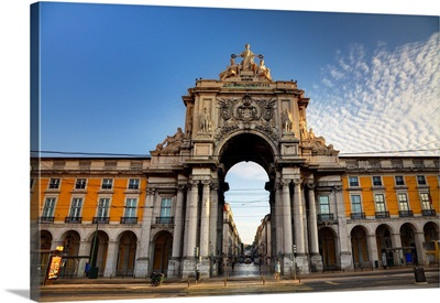 Portugal, Lisbon, Rua Augusta, Commerce Square, Arched Entry