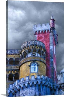 Portugal, Sintra, Detail of Pena Palace