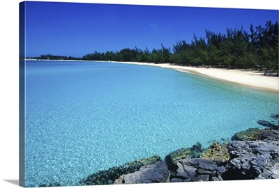 Pristine beach, Fernandez Bay, Cat Island, Bahamas