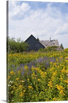 Quebec, Canada, Historic settlement on Ile Bonaventure, offshore of Perce