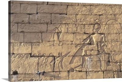 Relief depiction of Ramses II, Temple of Luxor, Egypt