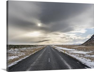 Ring road near Skeiderarsandur during winter, Iceland