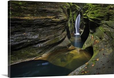 Robinson Falls, Also Known As Corkscrew Falls, Hocking Hills, Ohio