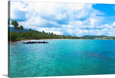 San Juan, Puerto Ric, Calm water is seen in the bay of a tropic island
