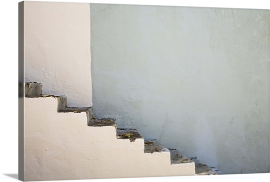 San Juan, Puerto Rico, Exterior concrete steps are going up the side ...