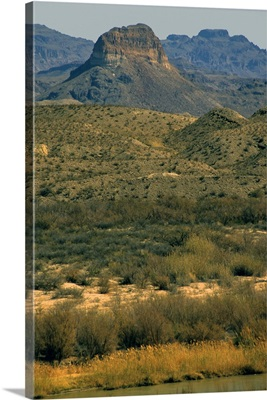 Scenic landscape of the Big Bend National Park.