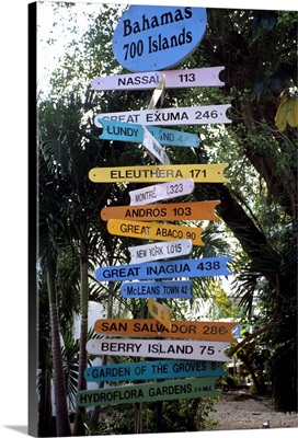 Sign post, Freeport, Bahamas
