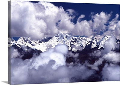 South America, Peru, view of Andes from the Inca Trail