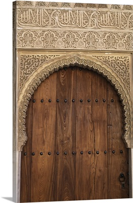 Spain, Granada, Alhambra, Legendary Moorish Palace Interior Details