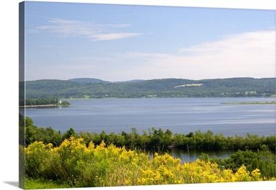 St. John River near the town of St. John, New Brunswick, Canada