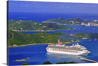 St. Thomas, US Virgin Islands. Aerial view of St. Thomas