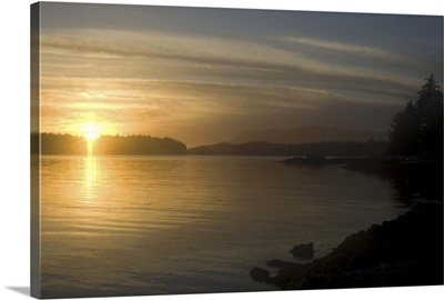 Sunset from Keith Island, Broken Island Group, Pacific Rim National Park Preserve