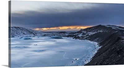 Svinafellsjoekull Glacier, Sandur Iceland