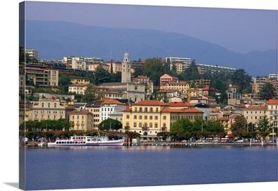 Switzerland, Lugano, Lake Lugano, Historic Town Center Waterfront