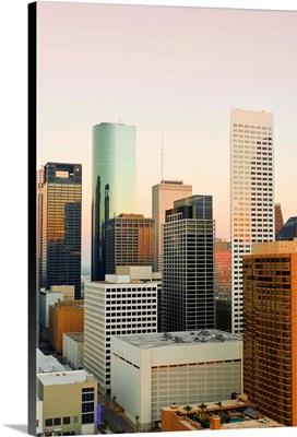 Texas, Houston, Downtown Skyline