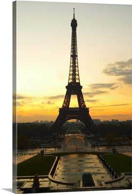 The Eiffel Tower in Paris in early morning, Paris, Fance