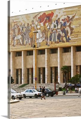 The museum of national history, Skanderburg Square, Albania, Balkan