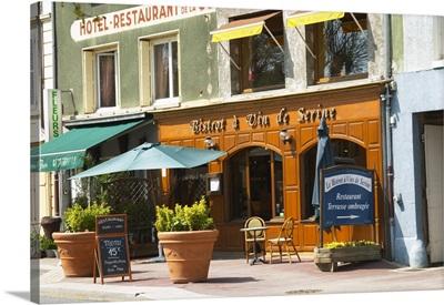 The restaurant Bistrot a Vin de Serine, Cote Rotie, Rhone, France