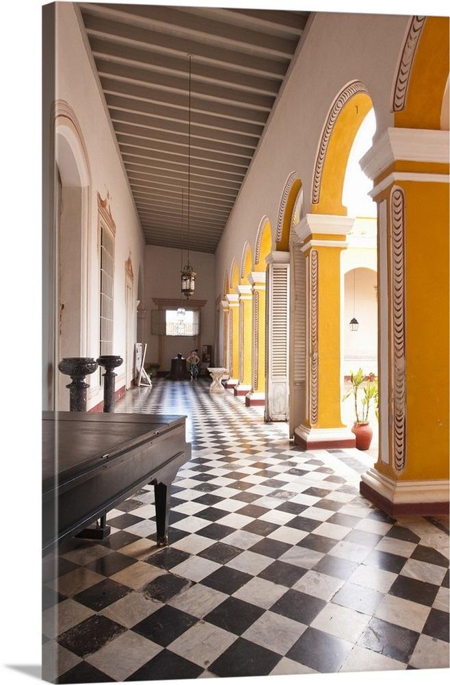 Museo Romantico.Trinidad Cuba Interior Of The Palacio Brunet Houses Museo