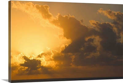 Turks and Caicos, Providenciales Island, Chalk Sound, Sunset over Sapodilla Bay