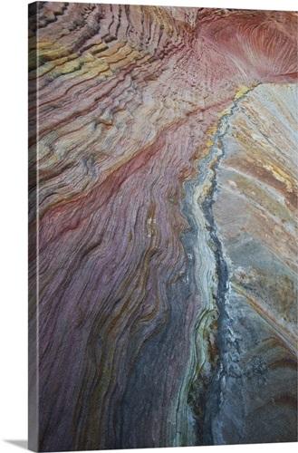utah zion national park slickrock pattern on checkerboard mesa