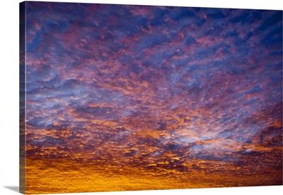 Vivid sunrise, Blue Ridge mountains, NC