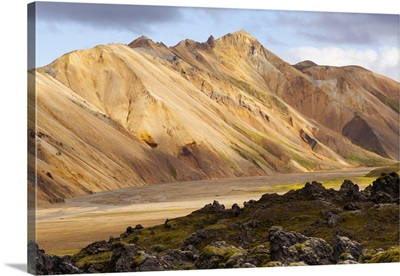 Volcanic Surreal Landscape At Landmannalaugar National Park, Iceland