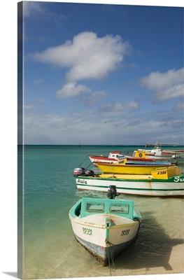 Wilhelmina Park, Colorful Aruban Boats, Oranjestad, Aruba