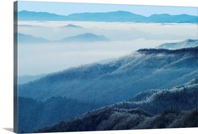 Winter view of Thomas Divide, Great Smoky Mountains National Park, North Carolina