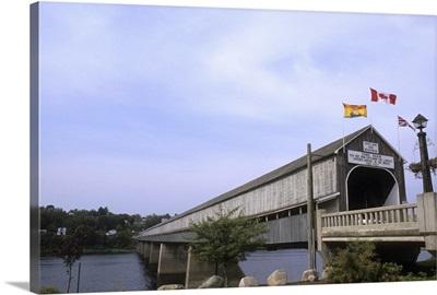 Worlds largest Covered Bridge in Hartland, New Brunswick, Canada