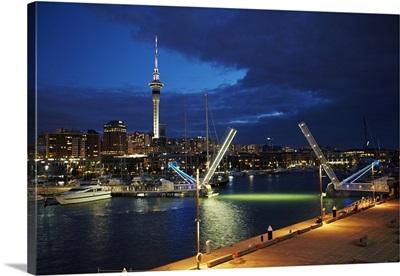 Wynyard Crossing bridge, Viaduct Harbour, Auckland, New Zealand
