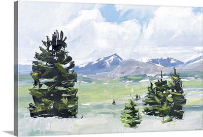 Mt. Evens and Bierstadt, Colorado