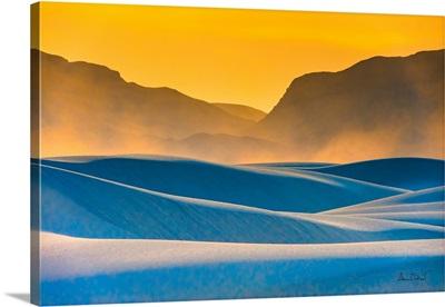 Dust Devils Over Sand At White Sands National Park, NM