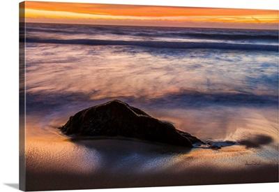 Incoming Tide At Sunset Near Carmel, California