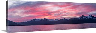 Katmai Mountains Sunset