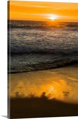 Sunset Surf At Carmel California