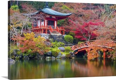 Autumn Temple In Japan