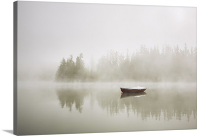 Boat In Mysterious Fog