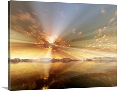 Bright Ocean Sunset