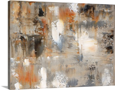 Brown And Grey Abstract Art