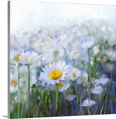 Daisy Flowers, Abstract Flower