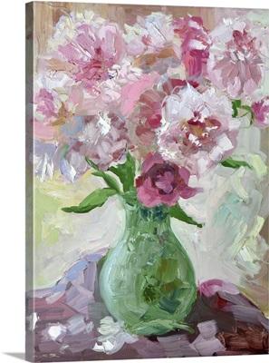 Etude Peonies In A Vase