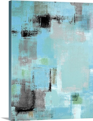 Grey And Blue Abstract
