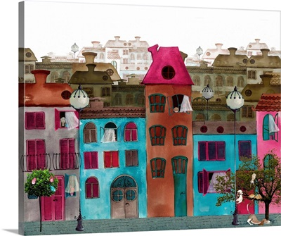 Illustrated Beautiful Street