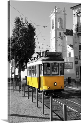 Lisbon Old Yellow Tram